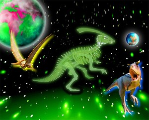 Dinosaur 3D Jigsaw Puzzle Glow In The Dark Construction Kit
