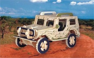 Jeep - 3D Jigsaw Woodcraft Kit Wooden Puzzle