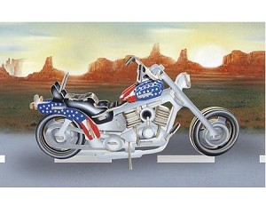 Motorcycle - Colored 3D Jigsaw Woodcraft Kit Wooden Puzzle