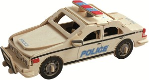 Police Car - 3D Jigsaw Woodcraft Kit Wooden Puzzle