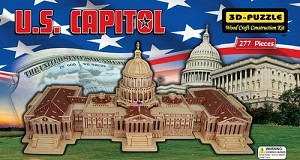 US Capitol - 3D Jigsaw Woodcraft Kit Wooden Puzzle
