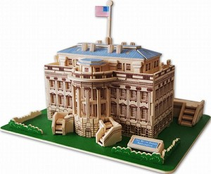 White House - 3D Jigsaw Woodcraft Kit Wooden Puzzle