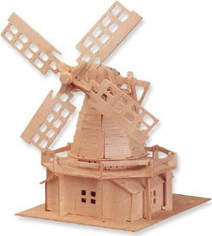 Windmill - 3D Jigsaw Woodcraft Kit Wooden Puzzle