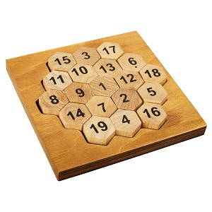 Aristotle's Number - Wooden Puzzle Math Brain Teaser