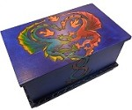 Dragons In Love (Large) - Secret Wooden Puzzle Box