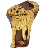 Golden Retriever - Secret Wooden Puzzle Box
