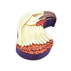 Eagle Head Secret Wooden Puzzle Box