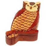 Owl - Secret Wooden Puzzle Box