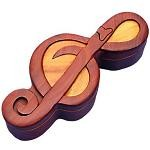 Treble Clef - Secret Wooden Puzzle Box