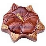 Hibiscus Flower - Secret Wooden Puzzle Box