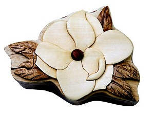 Magnolia - Secret Wooden Puzzle Box