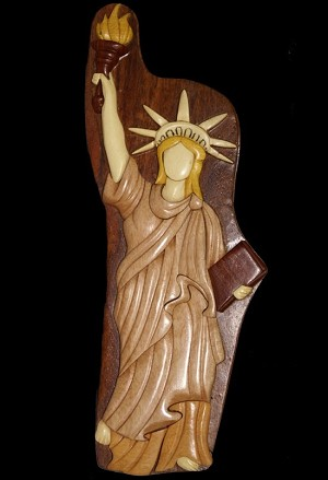 Statue Of Liberty - Secret Wooden Puzzle Box
