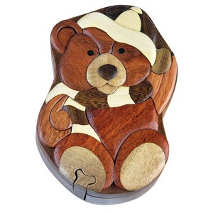 Winter Bear - Secret Wooden Puzzle Box