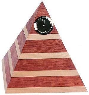 Pyramid Desk Organizer Clock And Internal Storage