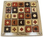 Die 5 Elemente - Color and Shape Match Wooden Brainteaser Puzzle