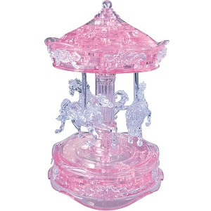 3d Deluxe Crystal Puzzle Carousel