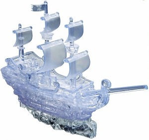 3d Deluxe Crystal Puzzle Pirate Ship Clear