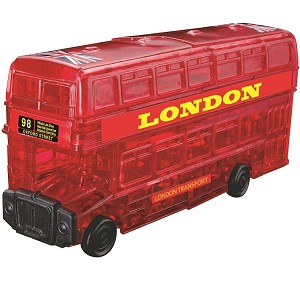 3d Crystal Puzzle London Bus Red
