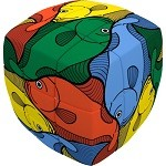 V-Cube 3 Fish - Pillowed Cube Twisty Puzzle