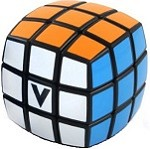 V-Cube 3 Black Pillowed Multicolor Cube Puzzle