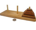 Tower Of Hanoi 7 Discs - Wooden Puzzle Game