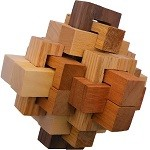 Walnut Hill 24 Pieces - Wooden Puzzle Brain Teaser