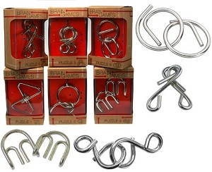 Cast Metal 6 Puzzles Set (Medium) - Group Special