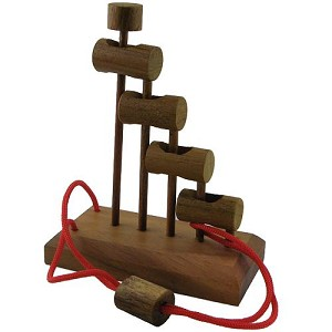 Jacob's Ladder String Brain Teaser wooden Puzzle