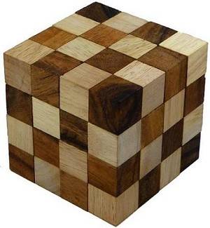 Anaconda Cube - Wooden Puzzle Brain Teaser