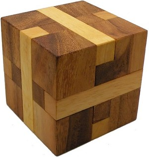 Bind Cube - Wooden Brain Teaser Puzzle