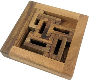 C-Box - Packing Problem Wooden Brain Teaser Puzzle