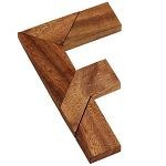 F Letter Puzzle Wooden Brain Teaser