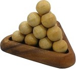 Pyramid Ball Fancy - 3D Wooden Brain Teaser Puzzle