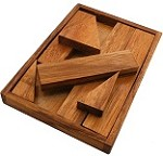 "Find the ""M"" With Wooden Tray - Wooden Brainteaser Puzzle"