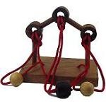 Gordian Bridge - Wooden String Puzzle Brainteaser