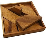 H Letter With Tray - Wooden Puzzle Brain Teaser