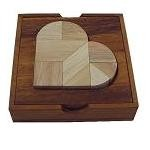 Heartbreak Tangram - Wooden Puzzle Brain Teaser