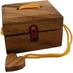 Love Me - Wooden String Puzzle Box