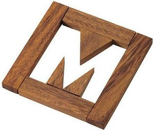 Missing M Letter Puzzle - Wooden Brain Teaser