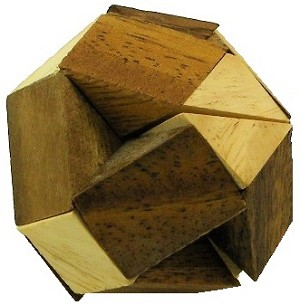 Multi Triangle Cube Wooden Puzzle Brain Teaser