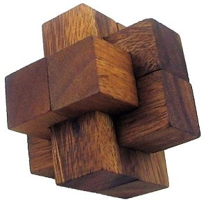 Notched Stick Medium - 3D Wooden Puzzle Brain Teaser