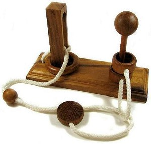 Oliver Plus String - Wooden  Brain Teaser Puzzle