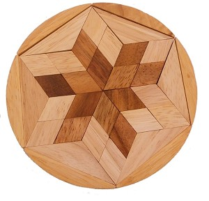 Pento Star Natural Wood Puzzle Brain Teaser