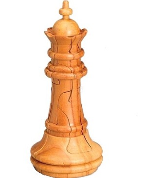 Queen Chess 3D Jigsaw Wooden Puzzle Brain Teaser