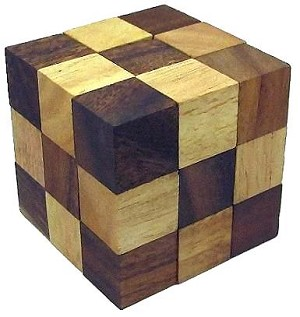 Snake Cube (Medium) Brain Teaser Wooden Puzzle