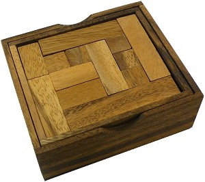 Solid Pentominoes Two Layer - Wooden Brain Teaser Puzzle