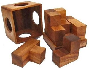 Soma Cube (Medium) - Wooden Brain Teaser Puzzle