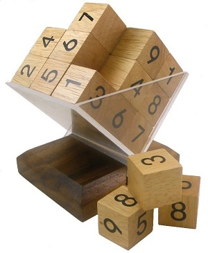3D Wooden SUDOKU Cube Puzzle / Game