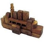 The Titanic - Kumiki Brain Teaser Wooden Puzzle