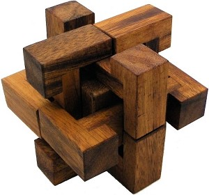 Trapped Cube - Wooden Brain Teaser Puzzle